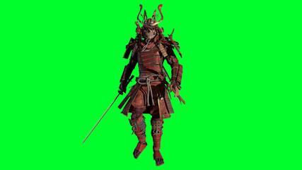 The Samurai Warrior 3d model render