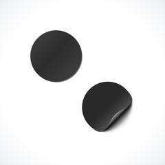 vector blank paper sticker mockup.