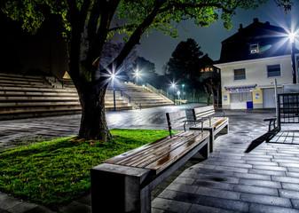 Promenade bei Nacht