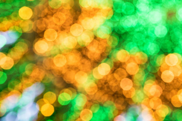 Abstract green and yellow holiday blurs background
