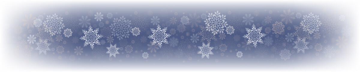 Christmas delicate blue design with a set of white snowflakes.