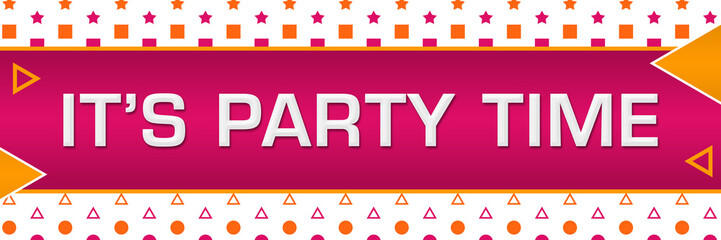 Its Party Time Pink Orange Basic Shapes Triangles Horizontal