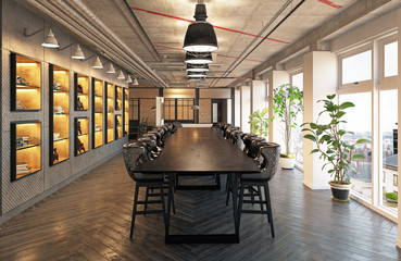 modern conference meeting room