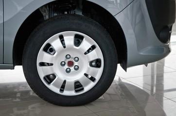 Car Back Wheel Close-up