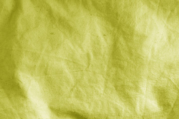 Cotton cloth texture in yellow color.