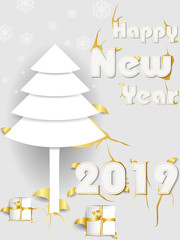 Seasons greetings background for Happy New Year 2019