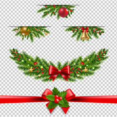 Christmas Garland Big Collection Transparent Background