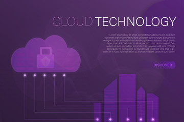 Business and finance. Vector illustration for cyber security, data analysis or cloud technology.