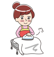 A woman who irons