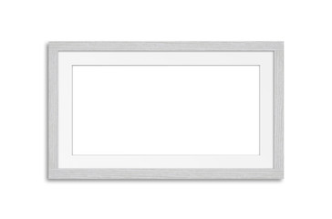Blank frame mock up,isolated on white background