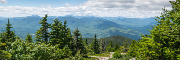 Canvas Prints Blue jeans White Mountains from Kearsarge