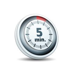 5 Minutes Time button illustration
