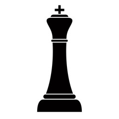 Silhouette of a king. Chess piece. Vector illustration design