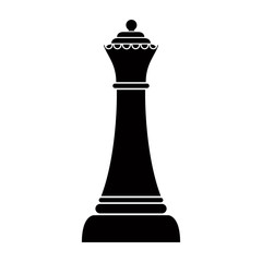 Silhouette of a queen chess piece. Vector illustration design