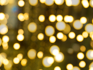 Gold and yellow bokeh background.