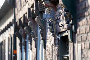 Old architecture detail in Ystad in Sweden
