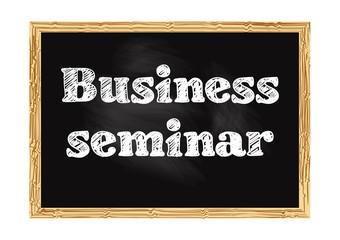 Business seminar blackboard business notice Vector illustration for design
