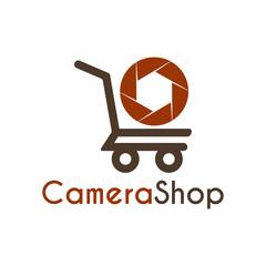 Vector Camera Shop logo, icon, symbols and app icon.