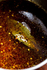 Close up of sweet and spicy gravy