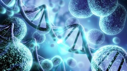 Fototapeta Close-up of virus cells or bacteria on light background obraz