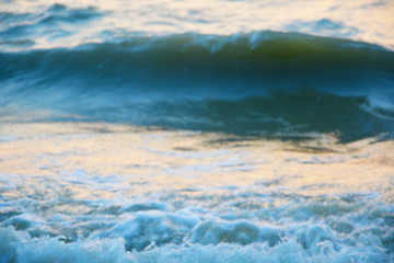 The texture of the waves