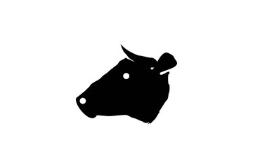 Head Cow Logo Designs Inspiration Isolated on White Background