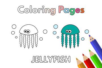Cartoon Jellyfish Coloring Book