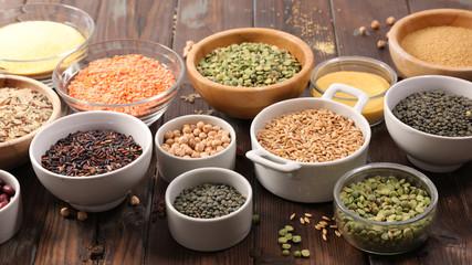 Fotobehang - selection of vegetarian food