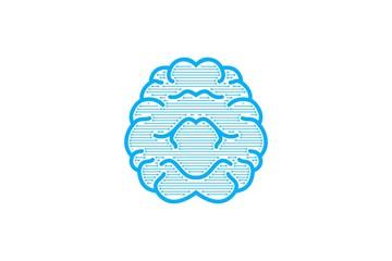 Brain Logo Designs Inspiration Isolated on White Background