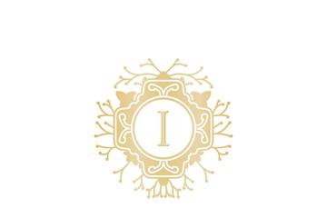 Initial I, Wedding boutique Logo Designs Inspiration Isolated on White Background