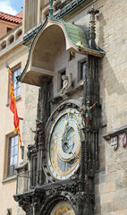 Face of the Astronomical Clock in Old Town Square Prague