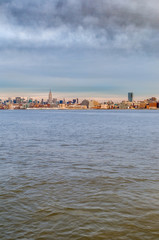 Manhattan Skyline as seen from Jersey City, New York, United States of America.