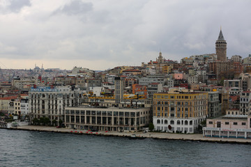 Cityscape of Istanbul, Turkey buildings