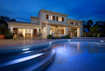 Mediterranean villa with swimming pool