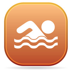 Swimming water sport icon