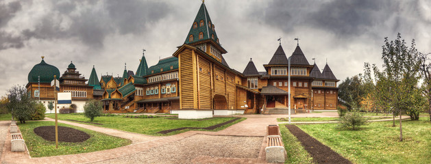 Panoramic view of palace