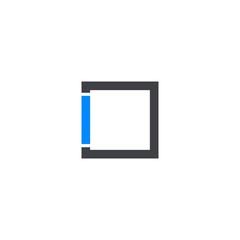 i logo vector icon template