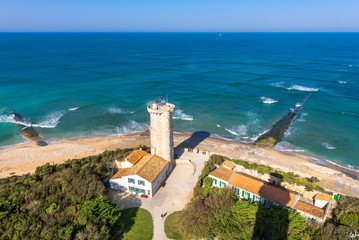 View from the lighthouse of Whales (Phare des Baleines) in Re Island, France