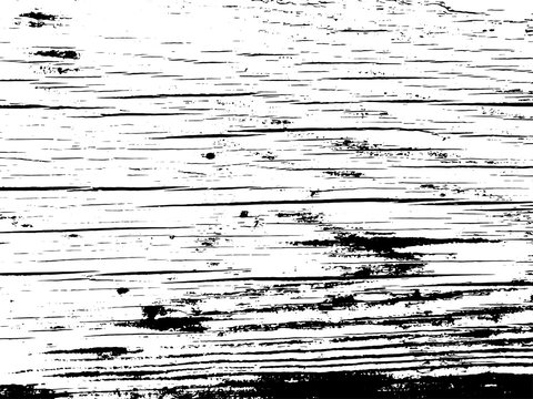 Old barn wood plank grunge texture overlay. Vintage natural vector background with cracks