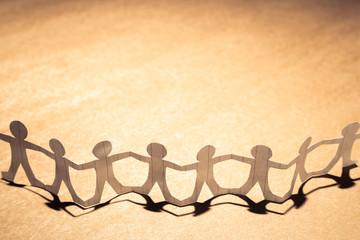 Paper Human Chain