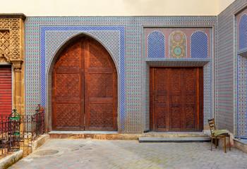 Decorated doors in medina of Fez