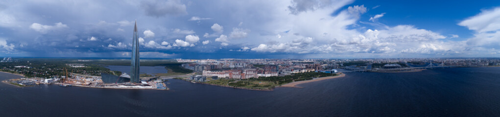 Panorama of St. Petersburg Lakhta Center