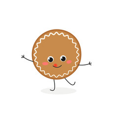 Funny gingerbread cookie character