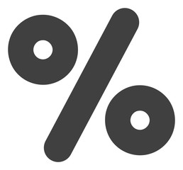 Percent vector icon symbol. Flat pictogram is isolated on a white background. Percent pictogram designed with simple style.