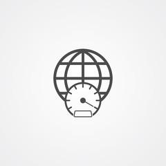 High speed internet vector icon sign symbol