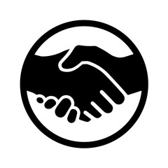 Icon of a handshake. Vector illustration EPS10 2