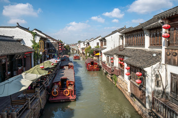 Kanäle in der Altstadt von Suzhou, China
