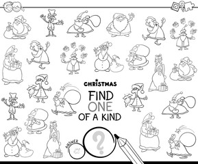one of a kind Christmas character color book