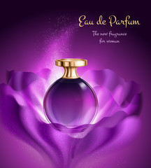 Perfume For Woman Advertising Composition