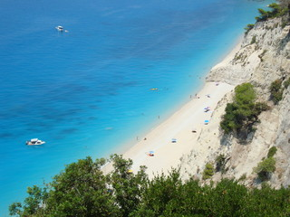 Holidays in Greece, Egremni beach in Lefkada